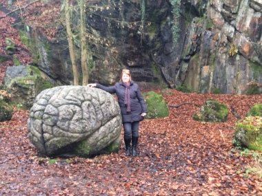 Brainy find on a walk in the woods. What's the likelihood that a neuroscientist on a walk in the woods stumbles on this!