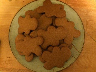 Gingerbread Peeps before
