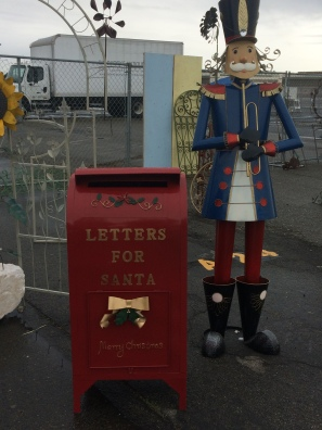 Letters to Santa at the flea market