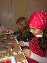 Making ornaments at my holiday party