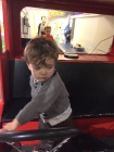 Sebastian driving the ambulance at Habitot