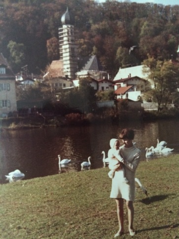 Mom and me in Wolfratshausen