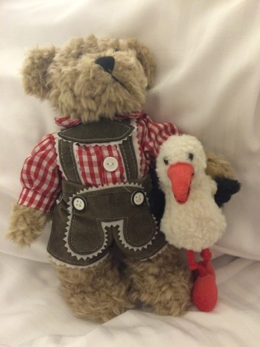 Teddy for Otto and my lucky stork