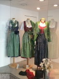 Dirndls in shop window