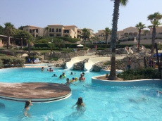 Lazy river and waterslides