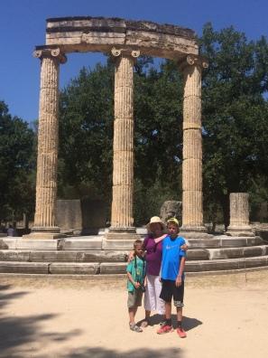 Olympia with Sebastian and Matthias