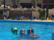 Sebastian and I playing water ball