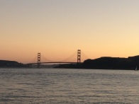 Sunset over Golden Gate