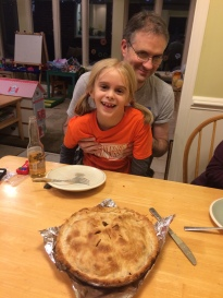 Paul and Keira--but check out our pie!