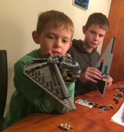 Working on our lego space craft